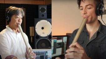 Zac Zinger plays Yesterday with Metal Shakuhachi Katana (ft.Yukihiko Mitsuka)