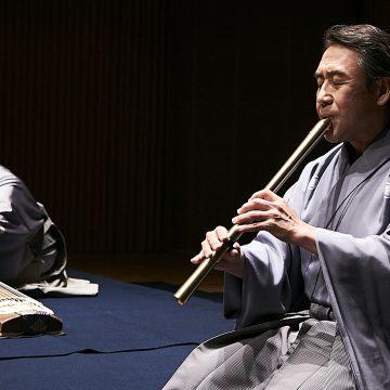 Keisuke Zenyoji played Komuso-Shakuhachi music with Katana